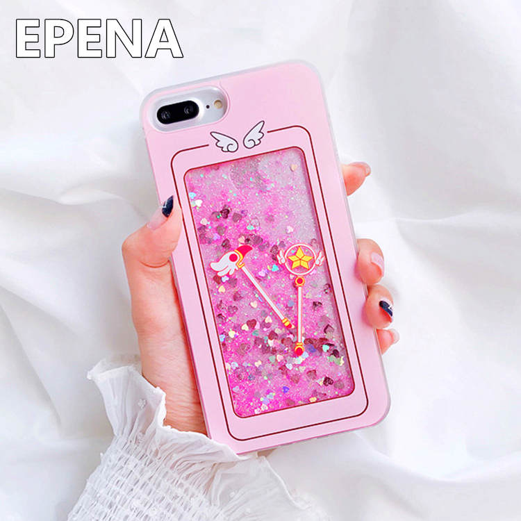 Cellphones & Telecommunications Half-wrapped Case 3d Magic Angel For Iphone X Case Cute Cartoon Sailor Moon Wings For Iphone 8 7 6 6s Plus Pink Sakura Case For Iphone7 Strap