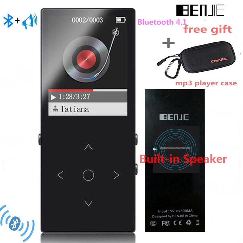 2018 Bluetooth4.1 MP3 Music Player BENJIE-K8 New Version Built-in Speaker with FM Radio Included Free Gift--mp3 player case/box