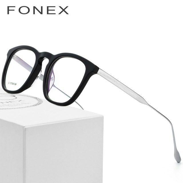 7c1b253278f Acetate B Titanium Glasses Frame Women Ultralight Men Prescription  Spectacles Eyeglasses 2018 Light Myopia Optical Frame Eyewear