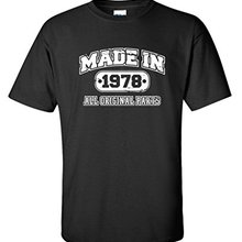 T Shirt Casual 39Th Birthday Made In 1978 Novelty Gift Idea Vintage Funny Short Sleeve Men