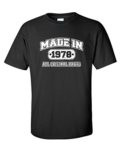 T Shirt Casual 39Th Birthday Made In 1978 Novelty Gift Idea Vintage Funny Short Sleeve Men Fashion 2017 Crew Neck Tee Shirts