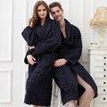 Frete grátis plus size 100% roupões de algodão toweled amantes robe bathoses das mulheres
