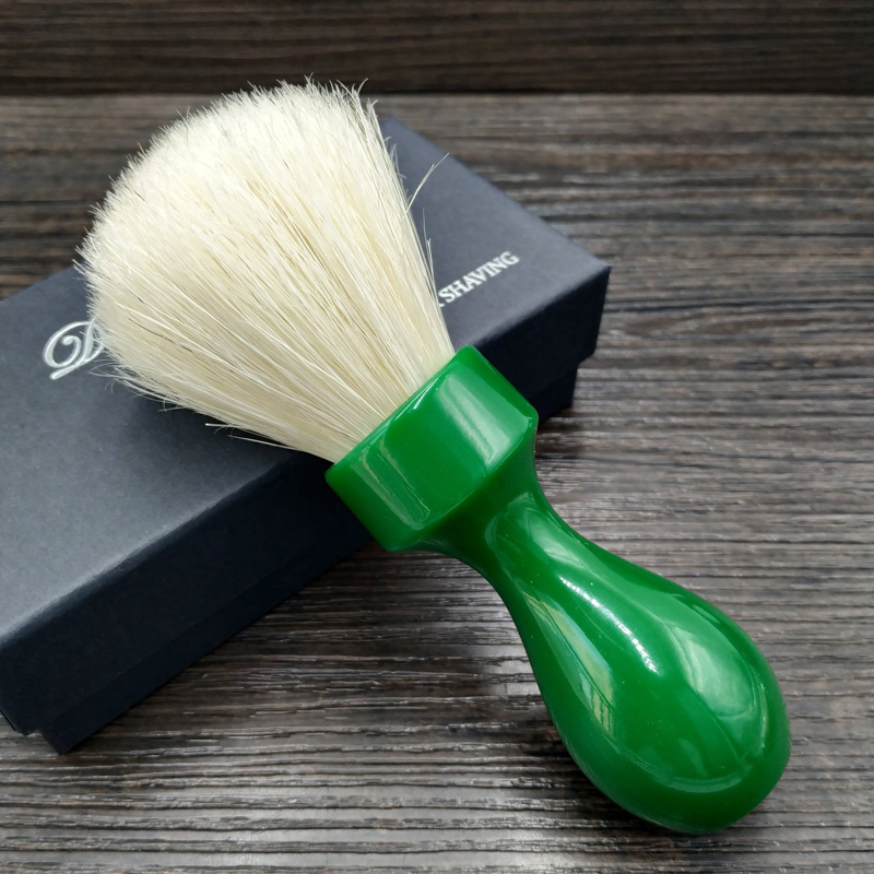 Dscosmetic 26mm Man Shaving Brush Boar Bristle Hair Green Resin Handle