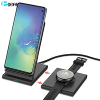 DCAE 2 in 1 Magnetic Wireless Charger For Samsung S10 S9 Galaxy Watch Buds Gear S3 10W Qi Fast Charge Stand for iPhone XS XR X 8