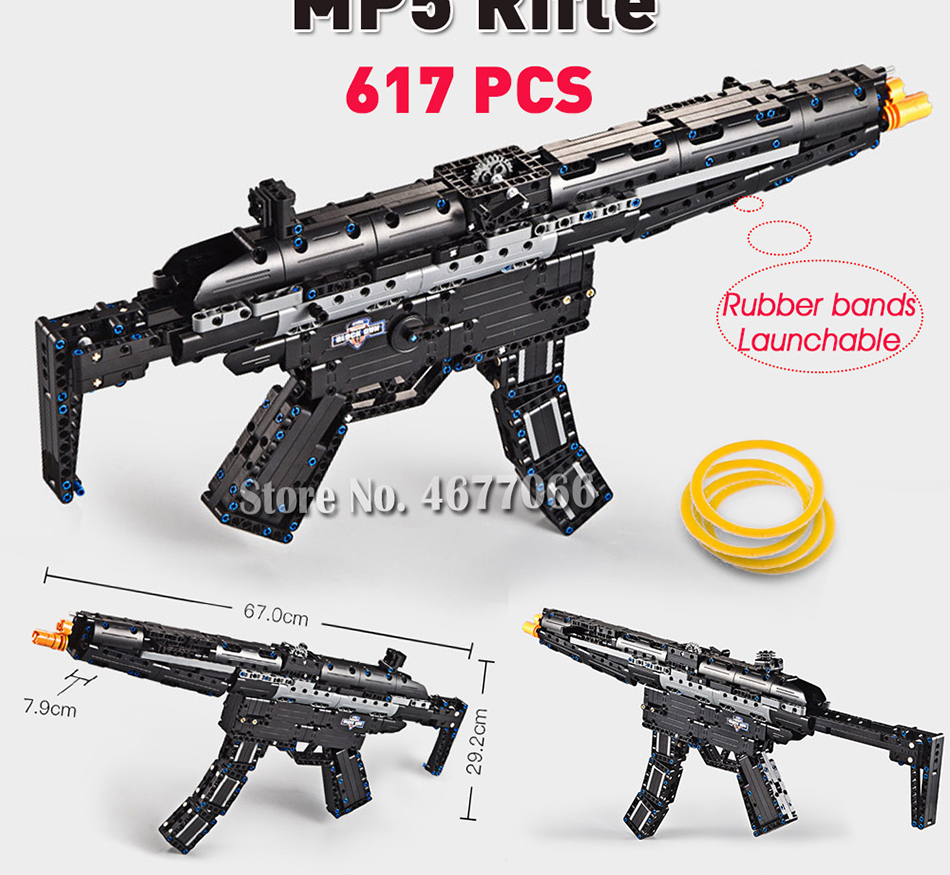 cada building blocks technic gun toy models & building toy gun model 98k bricks educational toys for children ww2 toys for kids 9