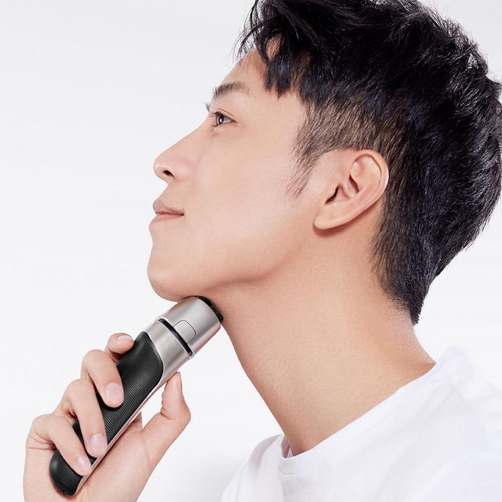 Xioami smate rasoir électrique xumei soins de la peau protéger pas de mal sec humide rapide nettoyer 4 lames rasoir pour homme petit ami papa mari - 6