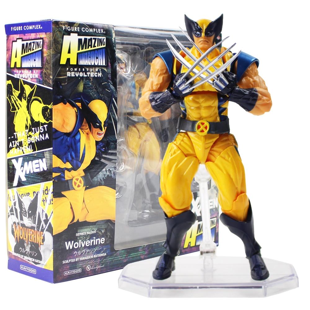 цена на 15cm Marvel Super Hero X-Men Wolverine Logan Howlett Action Figures BJD Doll Toys