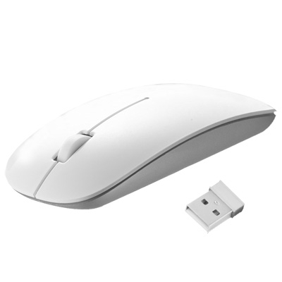 2.4GHz Wireless Ultra-thin Laser Optical Mouse with USB Mini Receiver, Plug and Play
