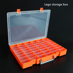 Lego receive a case of 48 case sample box storage box portable components box transparent multiple parts box