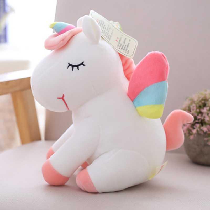 30 см светодиодный плюшевый светильник игрушки набивной единорог животные плюшевые игрушки, забавные лошадь пони игрушки мягкие куклы детские игрушки рождественские подарки на день рождения