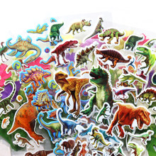 6PCS 3D DIY Cartoon Animal Dinosaur Bubble Stickers Creative Lovely Decoration Educational Toys For Children Kids Boy Baby(China)