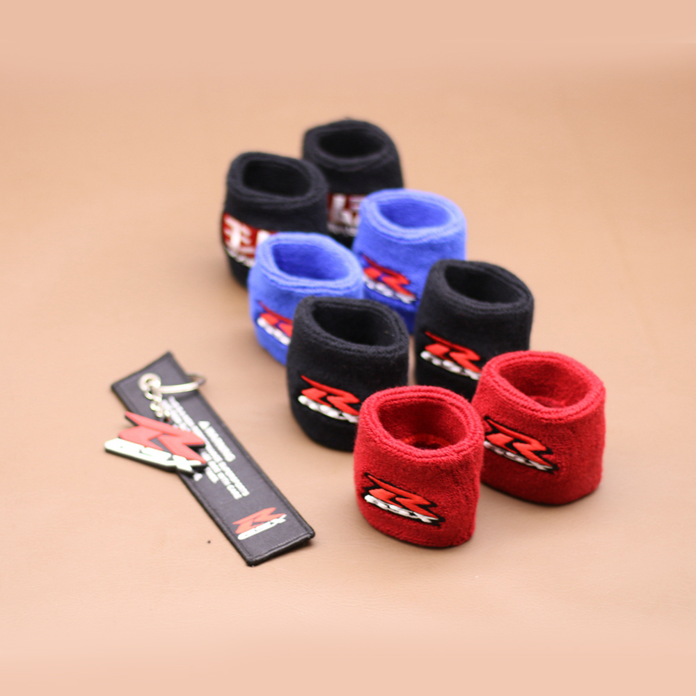 Motorcycle Front Brake Oil Fluid Reservoir Tank Cover Protector Sock For Suzuki GSX-R GSXR 600 700 1000 1300R Hayabusa GSX1250 aftermarket free shipping motorcycle parts blade style rear foot peg for 1999 2007 suzuki gsx 1300r r hayabusa gsx r chrome