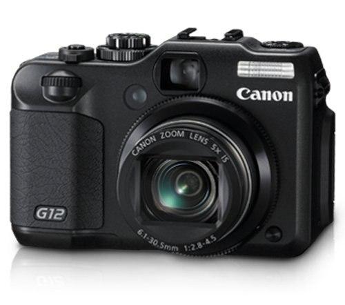 Цифровая камера Canon G12, цифровая камера 10 МП с 5x оптическим стабилизированным зумом и 2,8-дюймовым ЖК-дисплеем Vari-Angle