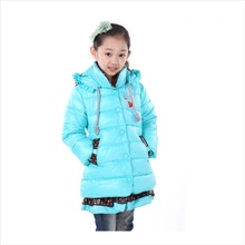 Wholesale girls clothes new winter thick baby girls coat cartoon anna elsa girls jacket manteau fille