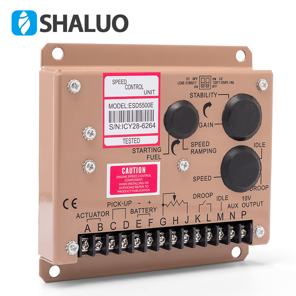 Speed Controller for Diesel Engine Generator of Speed Governor ESD5500E Governor new esd5500e engine speed governor speed governor gac esd5500e relative humidity up to 95