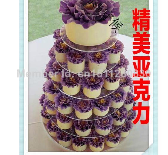 Hot shopping Fruit basket frame Fashion 6 tier acrylic candy cake shelf dried fruit snacks acrylic cupcake stand decoration