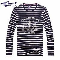 2016 Men S Small Stripe T Shirts Spring Autumn New Fashion Male Long Sleeve Sailor Shirt