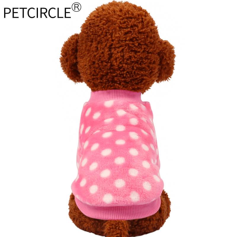 2018 Petcircle Hot Sale Dog Fleece Hoodies Pet Cat Dog Clothes Soft Fleece 4 Colors Hoodies Warm Coat Pet Clothing