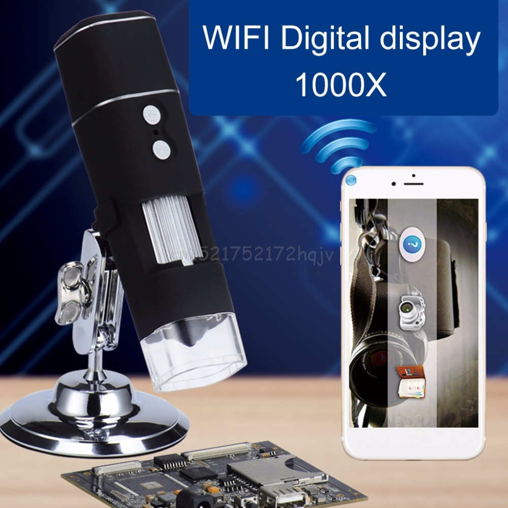 WiFi Digital Microscope Magnifier 8LED 1000X Video Camera for Android iOS for cellphone S28 dropship