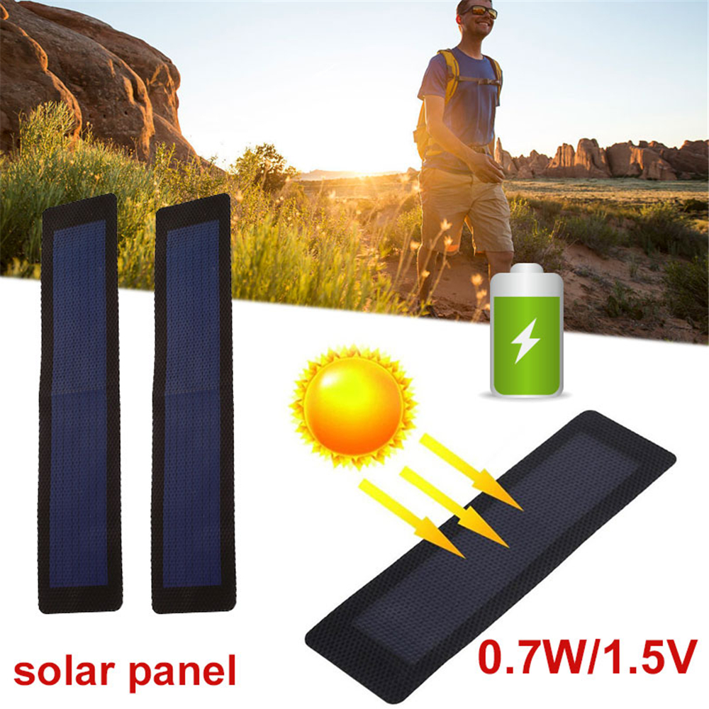 1.5V 0.7W Solar Generator Solar Panel Charger Pane Durable Waterproof Foldable Small Power System 27*5.5*0.1cm Solar Cells