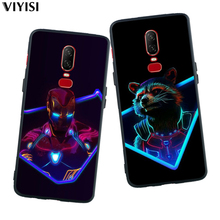For Oneplus 6T Case 6 5 5T Cover Coque Etui Cool Marvel Avengers Super Heroes Deadpool Spider-Man Soft Solicone Phone