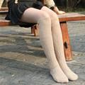 Moda Sexy Caliente de Alta Del Muslo Sobre la Rodilla Calcetines Medias De Algodón Largo Para Las Señoras de Las Mujeres 3 par = 6 unids GX19