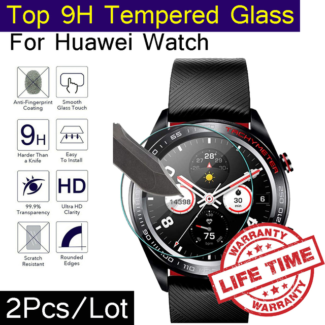 2Pcs/Lot 9H Glass For Huawei Honor Watch Magic GT S1 1 2 Pro HD Thin Tempered Glass Screen Protector Film Templado No Bubble