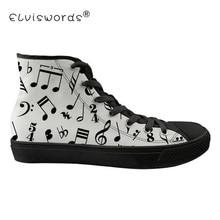 ELVISWORDS Music Piano Pattern Men's Vulcanize Shoes Tenis Feminino For school Teenager Fashion Casual Sneakers Male Shoe Mujer