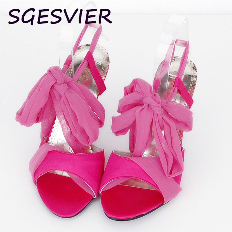 SGESVIER Summer Sales Women Sandals Red Black Beige Blue Ladies Sexy High Heel Shoes Cross Tied AHS-2 Plus Big Size 31 43 AA281 brand new hot sale sexy suede leather women tassel sandals blue black purple red ladies high heel fringe shoes plus big size 42