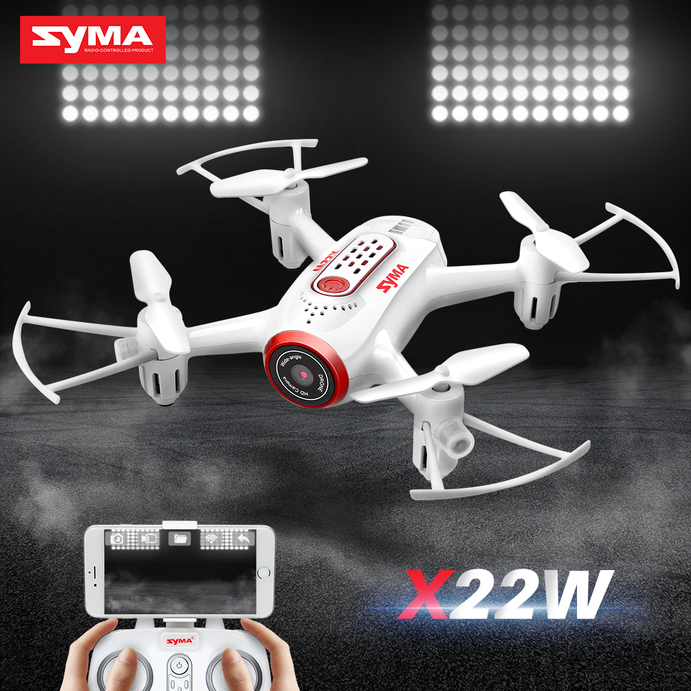 SYMA X22W RC Drone Avec Caméra Dron Hélicoptère Quadcopter Aéronefs Quadrocopter FPV Wifi Transmission Drones Jouets Doué batterie