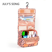 2017 JULY'S SONG Women Waterproof Cosmetic Hanging Mesh Toiletry Storage Organizer Makeup Pouch Bag