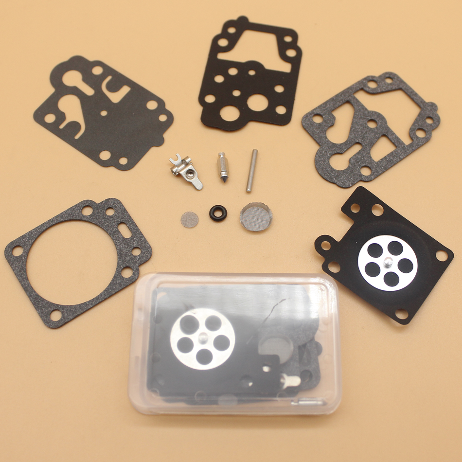 2Pcs/lot Carb Rebuild Kit For Walbro K10-WYC WYC-7-1 WYC-8-1 WYC-9-1 Carburetor Repair Overhaul Kit
