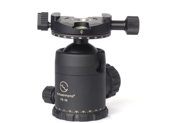 SUNWAYFOTO Panoramic Ball Head Panning Clamp Panorama Base Low Center Gravity High Locking Force FB36DDHi for Nikon Canon Camera