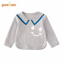 Pureborn 2018 Baby Children S Long Sleeve Tops T Shirts Heart Designs Clothing Cotton Baby Girl