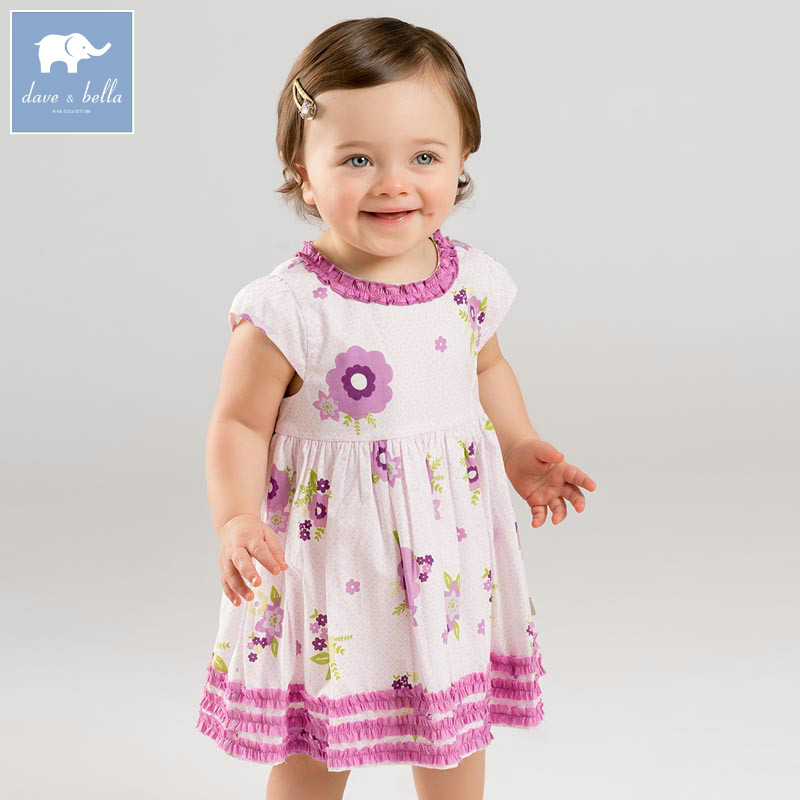 DBA6652 dave bella summer baby girl's princess floral dress children birthday party wedding dress kids infant lolital clothes db7396 dave bella summer infant baby girls princess ballet dress children birthday party wedding dress kids lolital clothes