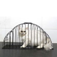 Visuable Pet Cage Anti-grab Dog Cage 2 Door Bathing Cage Cat Shower House Lightweight House Safety Hair Dryer Pet Supplies(China)