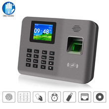 Máquina de tiempo de asistencia biométrica RFID, 2,4 pulgadas, TCP/IP/USB, reconocimiento de huella dactilar, reloj de tiempo