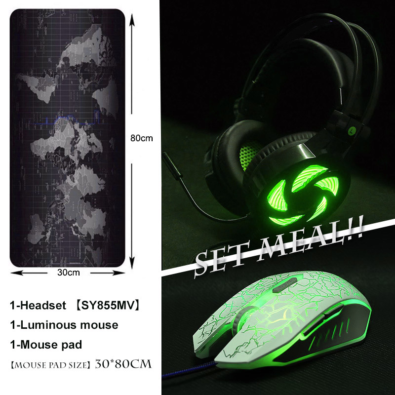 Gaming Headphone casque Soyto Z-855 Best Computer Stereo Deep Bass Game Earphone Headset + USB Gaming Mice + 800*300mm MousePad цена и фото