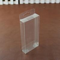 PVC transparente caja de plástico con Agujero de la Caída de Galletas de Caramelo Cajas Favor de La Boda Del Arte de DIY Embalaje