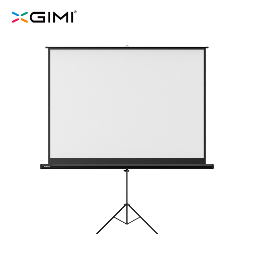 original xgimi high quality 100 inch white plastic portable projector hd screen folded