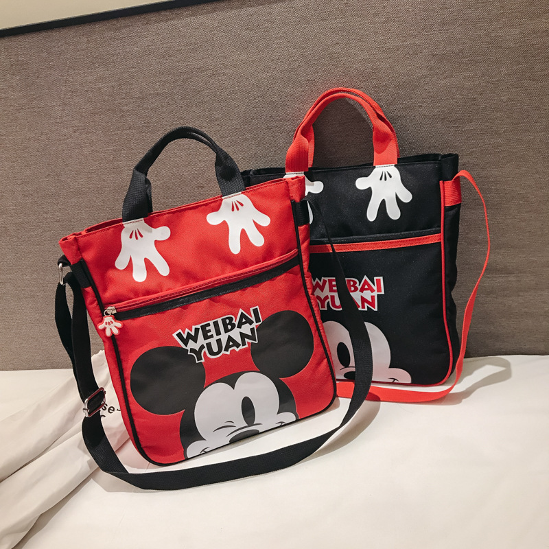 Disney Mickey Mouse Children Bag Shoulder Cartoon Bag Messenger Girl Handbag Outdoor Purse Coin Cute Storage Mother & Kids Diaper Bags