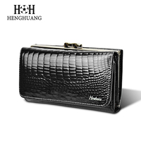 HH Women S Wallet Genuine Leather Lady S Wallets Small Short Money Clip Clutch Purse Luxury