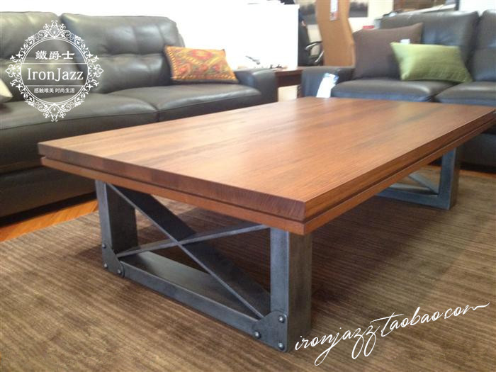 ... Heavy Metal Coffee Table. American Furniture Wrought Iron New Zealand  Pine Wood