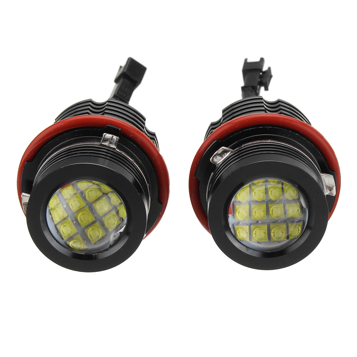 2PCS 80W LED Car Fog Light headlight Bulb 16LED Error Free Angel Eye Light Headlight Kit For BMW E39 E60 E87 E65