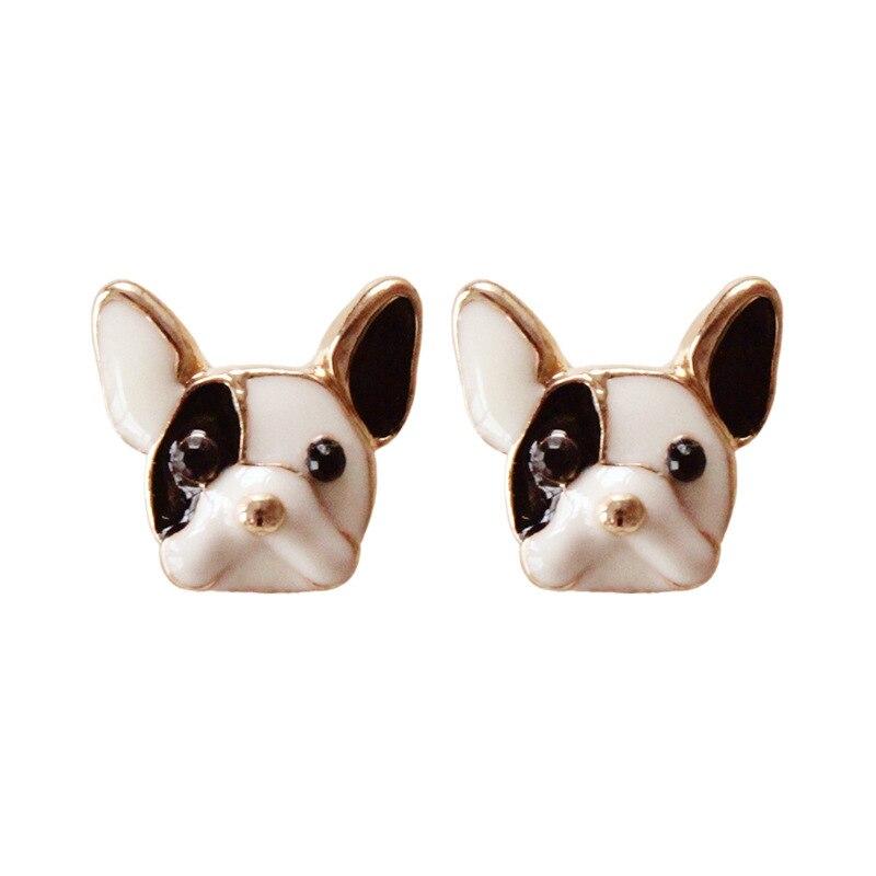 Harajuku Sake Cute Dogs Earrings Colorful Enamel Lovely
