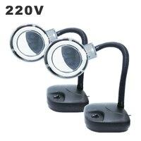 220V Fluorescent Desk Lamp 10X Magnifier light Illumination Dazor Light Ring Electronic Maintenance Lamp Reading Lights Europlug|Desk Lamps| |  -
