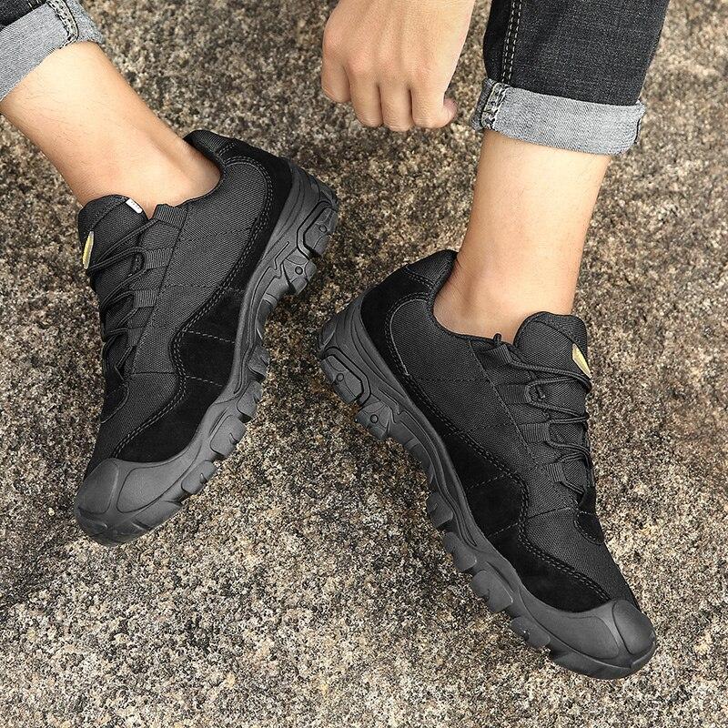 Hommes Toile 2018 Haute Chaussures khaki Occasionnels Protection Marche La Air Orteil 46 Nouveaux En Plein Taille Black Qualité Plus De w4FqfC5