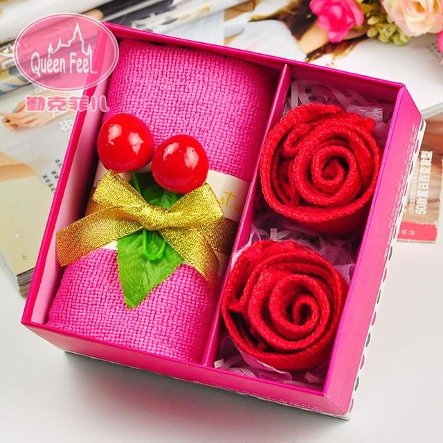 Aliexpress.com : Buy Gift married birthday gift cake towel rose ...