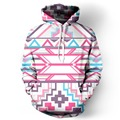 New Fashion Men/Women Hoodies Hooded Pop Art Print Geometric Triangle Flowers 3d Men Sweatshirt Pullovers With Cap Hoody