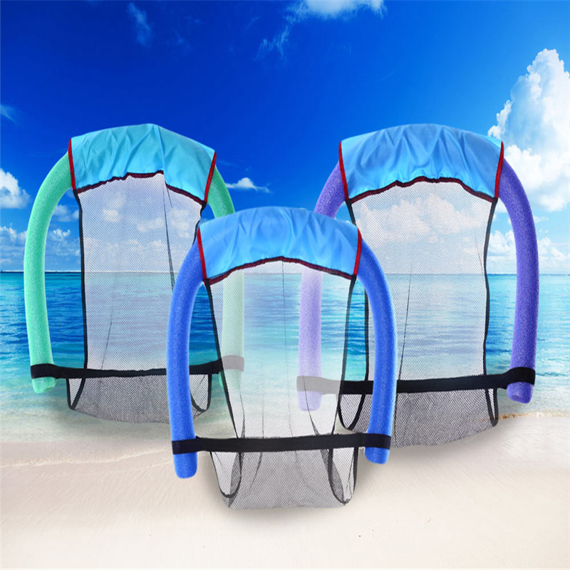 Portable Swimming Floating Chair Water Floating Pool Chair Seat Bed Water Supplies Outdoor for Adults Children 3 Colors